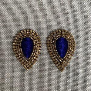 💙Stunning blue Moroccan fabric bead appliqué 💙